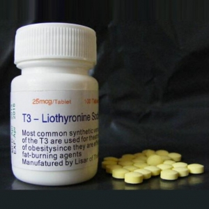 99% High quality T3- Liothyronine sodium 25mcg 100 pills